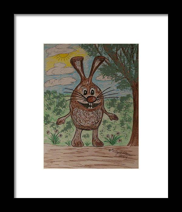 Cartoon Character Framed Print featuring the painting Hopper Doodle Bolak by Kathy Marrs Chandler