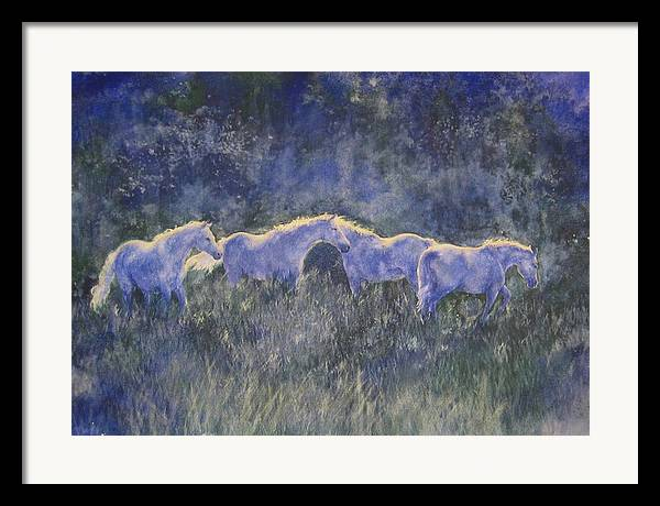 Landscape Framed Print featuring the painting Horizonline by Barbara Widmann