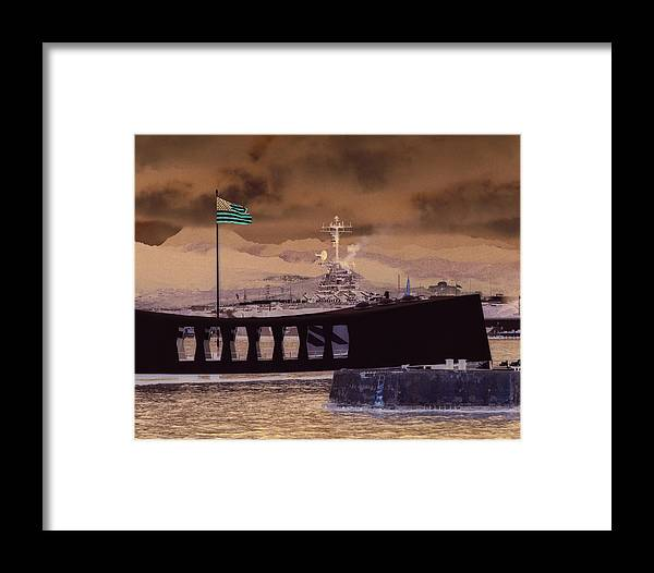 Hawaii Framed Print featuring the photograph Hornet In Pearl by Mike Ray