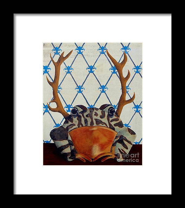 Turkey Framed Print featuring the painting Horny Toad by Jade Kozlowski-Goetz