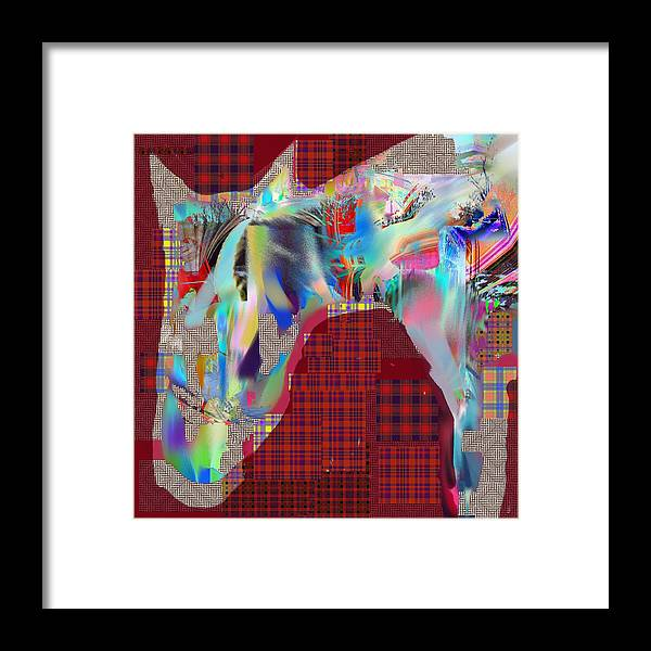 Abstract Framed Print featuring the digital art Horse 2 by Dave Kwinter