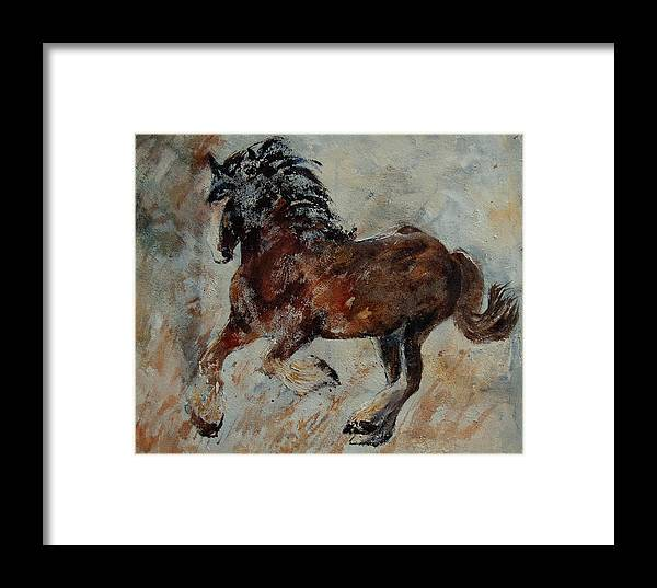Animal Framed Print featuring the painting Horse 561 by Pol Ledent