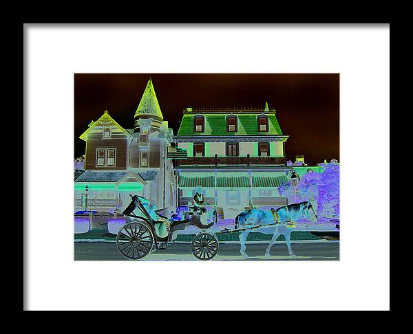 Horse Framed Print featuring the mixed media Horse And Buggy by Paul Barlo