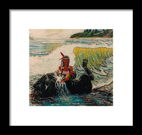Horses Framed Print featuring the painting Horse Bath by V Boge