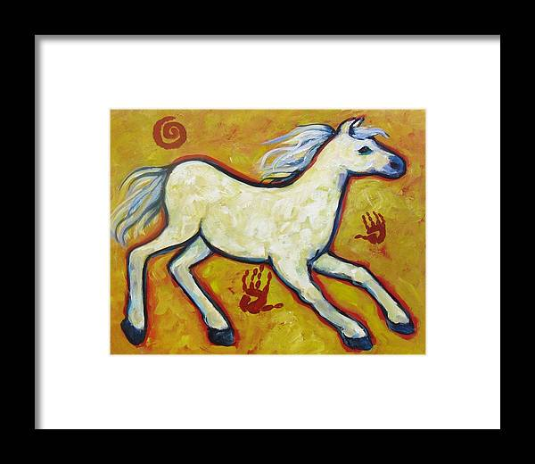 Horse Framed Print featuring the painting Horse Indian Horse by Carol Suzanne Niebuhr