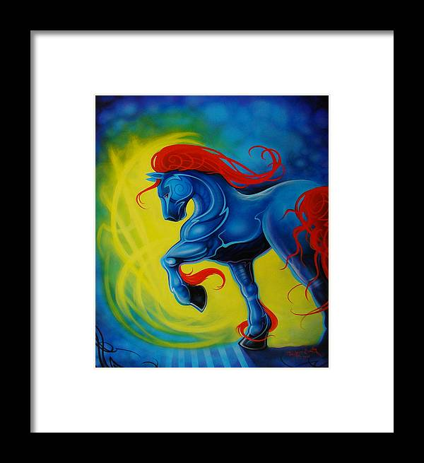 Horse Framed Print featuring the painting Horse by Joshua South