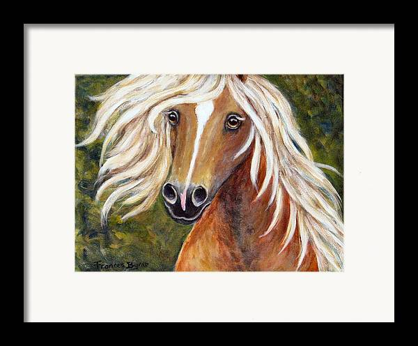 Horse Painting Framed Print featuring the painting Horse Painting Blondie by Frances Gillotti