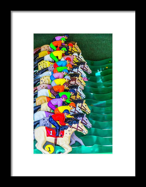 Carnival Horse Race Game Fair Framed Print featuring the photograph Horse Race Game by Garry Gay