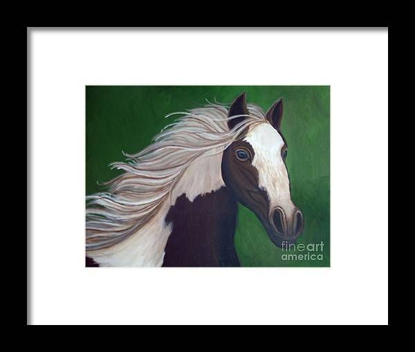 Horse Framed Print featuring the painting Horse Run by Nick Gustafson