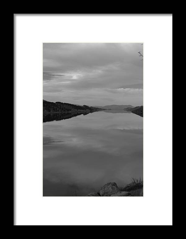 Landscape Framed Print featuring the photograph Horse Tooth Lake by Kyana Ubas