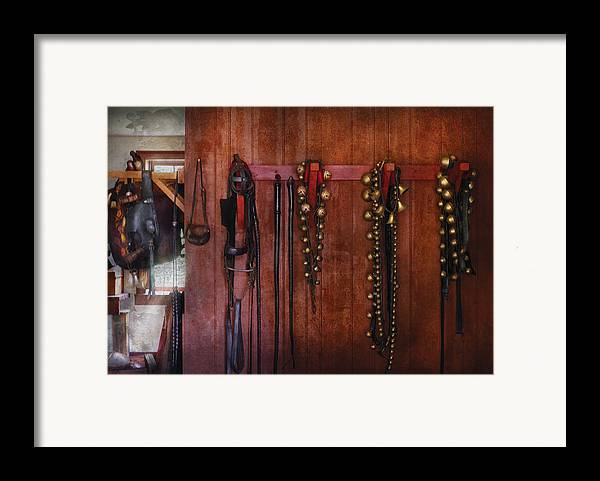 Savad Framed Print featuring the photograph Horse Trainer - Jingle Bells by Mike Savad