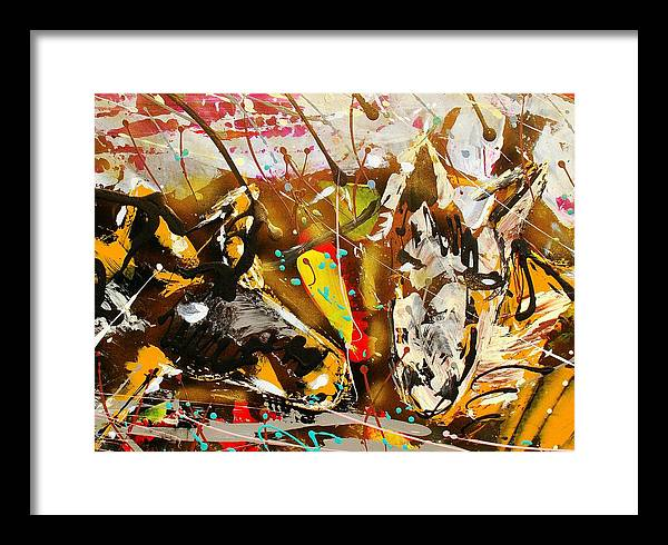 Abstract/impressionist Painting Framed Print featuring the photograph Spirit Of The Horses A by J R Seymour