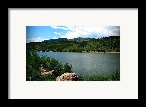 Horsetooth Reservoir Framed Print featuring the photograph Horsetooth Reservoir Summer by Aaron Burrows