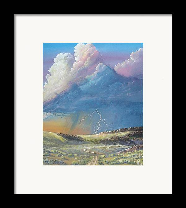 Monsoon Framed Print featuring the painting Horsewater by John Wise