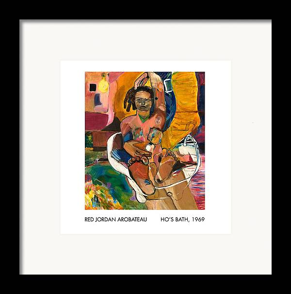 Prostitute Framed Print featuring the painting Ho's Bath by Red Jordan Arobateau
