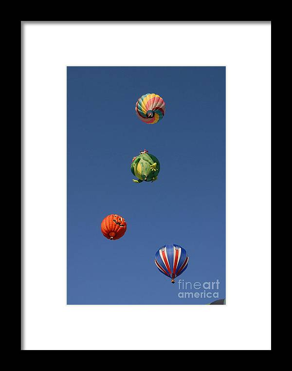 Hot Air Balloon Framed Print featuring the photograph Hot Air Rally by Dennis Hammer