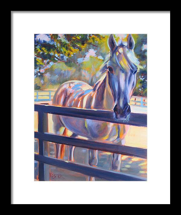 Horse Framed Print featuring the painting Hot And Humid by Kaytee Esser