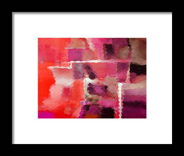 Digital Framed Print featuring the painting Hot Colors by Vicky Brago-Mitchell