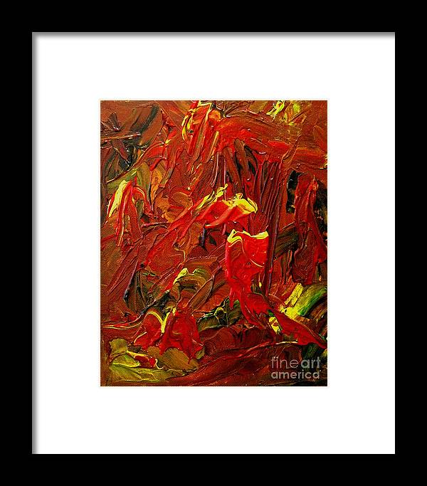 Woman Framed Print featuring the painting Hot Flashes by Karen L Christophersen