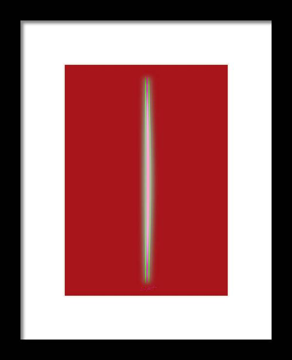 Slit Framed Print featuring the painting Hot For You by Charles Stuart