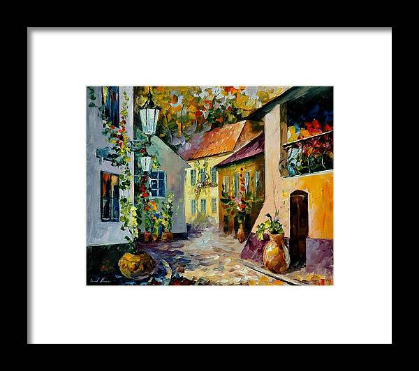 Landscape Framed Print featuring the painting HOT NOON Original Oil Painting by Leonid Afremov