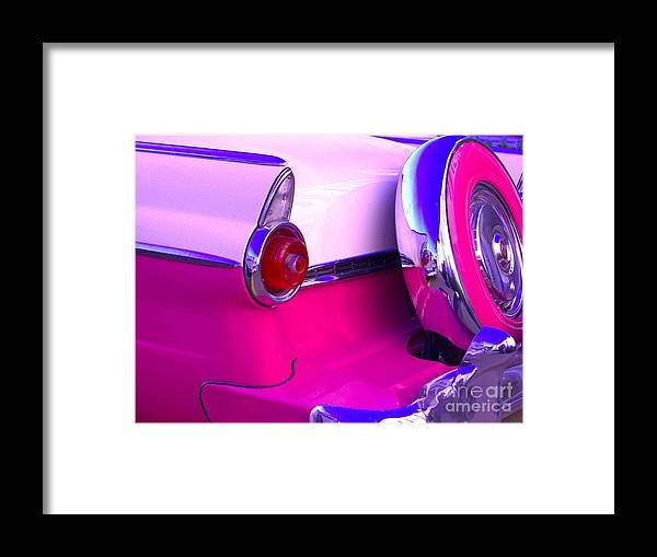 1955 Framed Print featuring the photograph Hot Pink 55 by The Stone Age