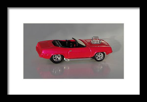 Hotwheels Framed Print featuring the photograph Hot Pink Barracuda by Bruce Roker