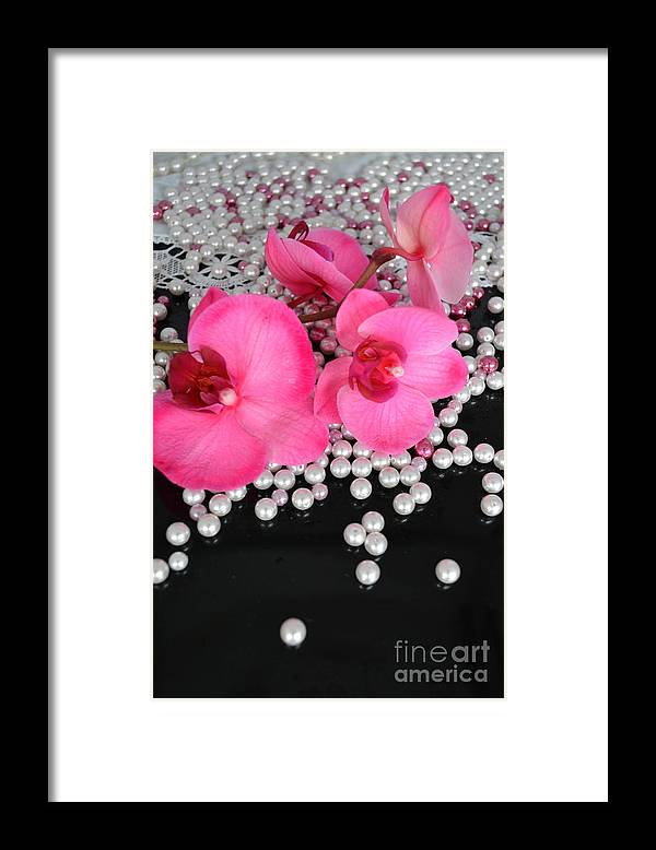 Orchids Framed Print featuring the photograph Hot Pink Orchids 2 by To-Tam Gerwe