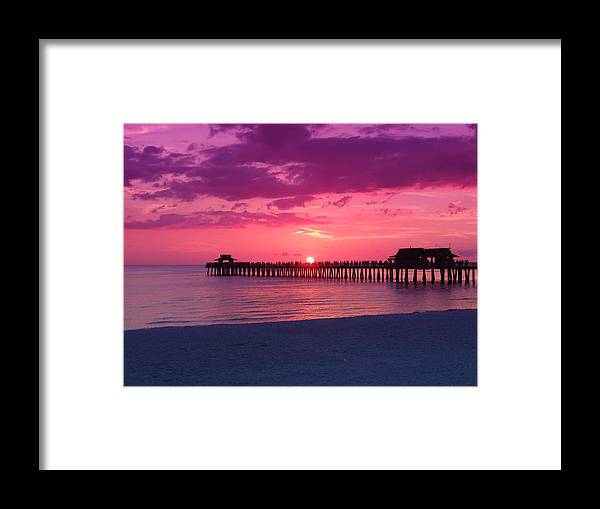 Sunset Framed Print featuring the photograph Hot Purple by Florene Welebny