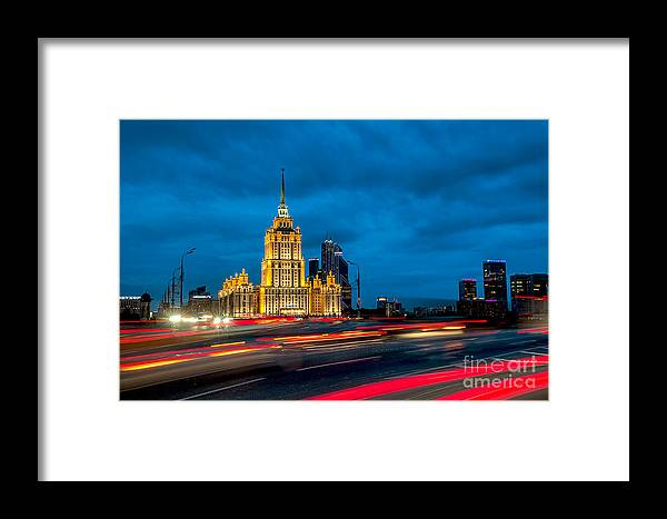 Hotel Framed Print featuring the photograph Hotel Radisson In Moscow by Vladimir Sidoropolev