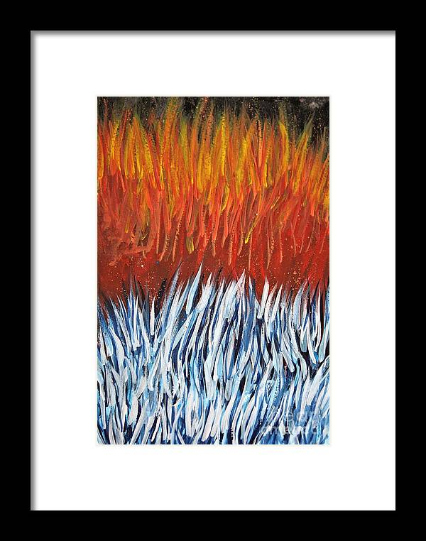 Abstract Framed Print featuring the painting Hotter Than Hot by Tyler Jones