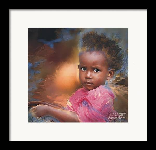 Portrait Framed Print featuring the painting Hour Of Need by Bob Salo