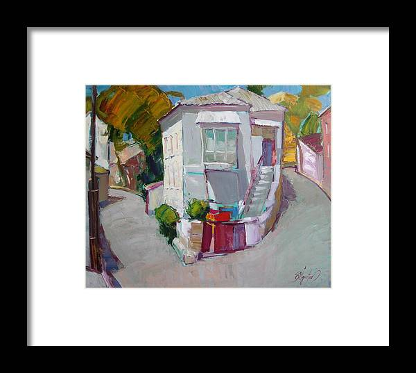 Ignatenko Framed Print featuring the painting Hous In Crimea by Sergey Ignatenko