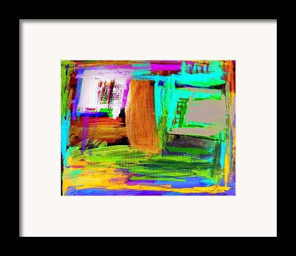 Abstract Framed Print featuring the mixed media House by Alfred Resteghini