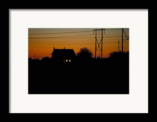 Sunset Framed Print featuring the photograph House At Sunset by Paul Kloschinsky