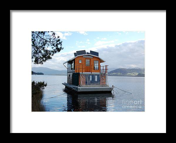 Photography Framed Print featuring the photograph House-boat On The Huan River by Sarah King