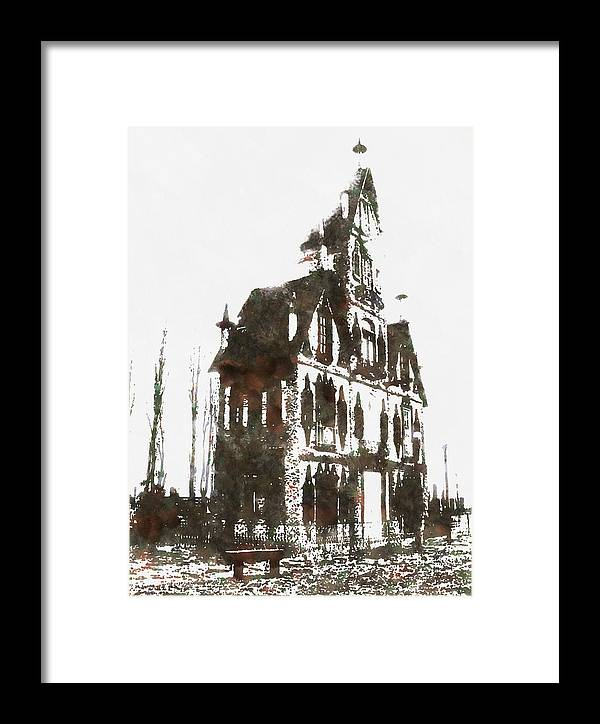 House Dracula Framed Print featuring the painting House Dracula by Mario Carini