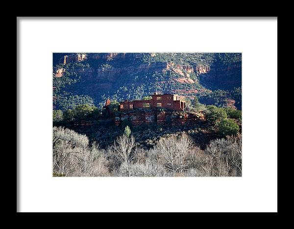Landscape Framed Print featuring the photograph House Of Apache Fires by Jennilyn Benedicto