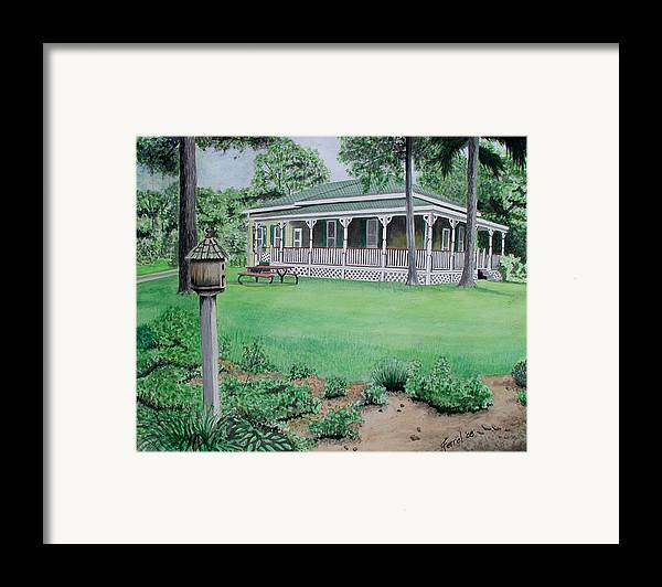 House Framed Print featuring the painting House Of David by Ferrel Cordle