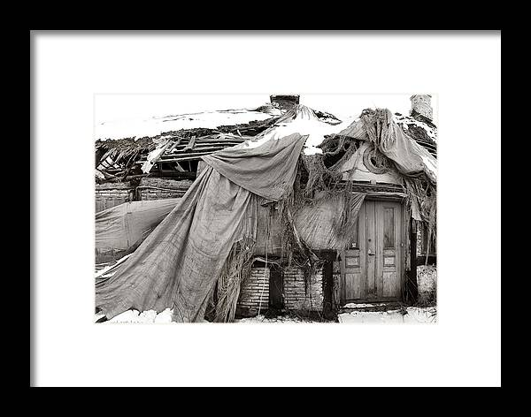 Ghost-house Framed Print featuring the photograph House Of Ghosts by Robert Lacy