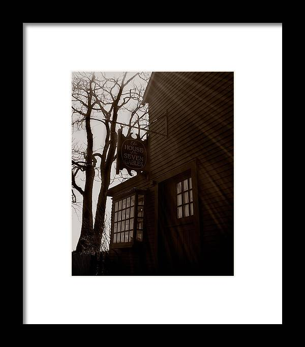 Salem Framed Print featuring the photograph House Of Seven Gables by Heather Weikel