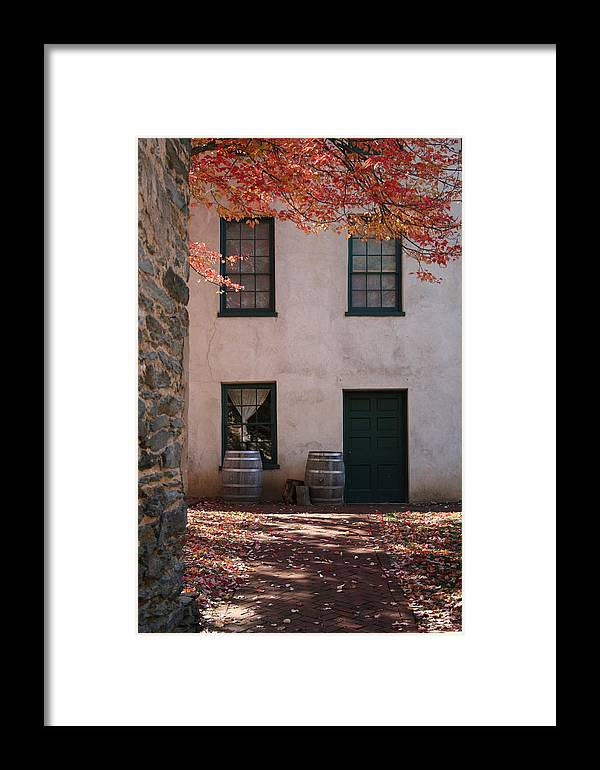Fall Framed Print featuring the photograph House Off Of Potomac St. by Rebecca Smith