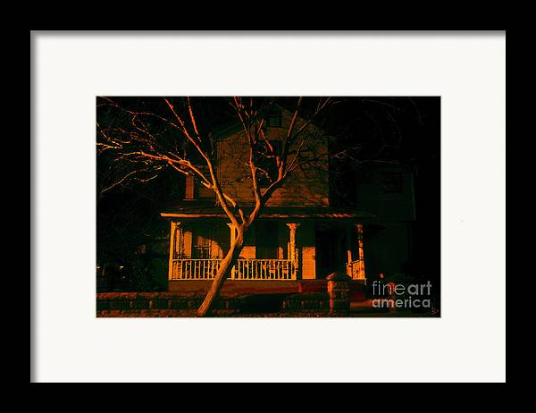 Haunted House Framed Print featuring the painting House On Haunted Hill by David Lee Thompson