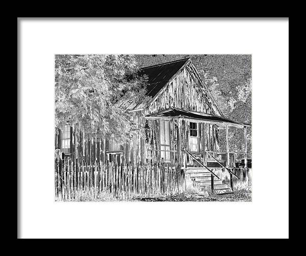 House Framed Print featuring the photograph House On The Hill by Athala Carole Bruckner
