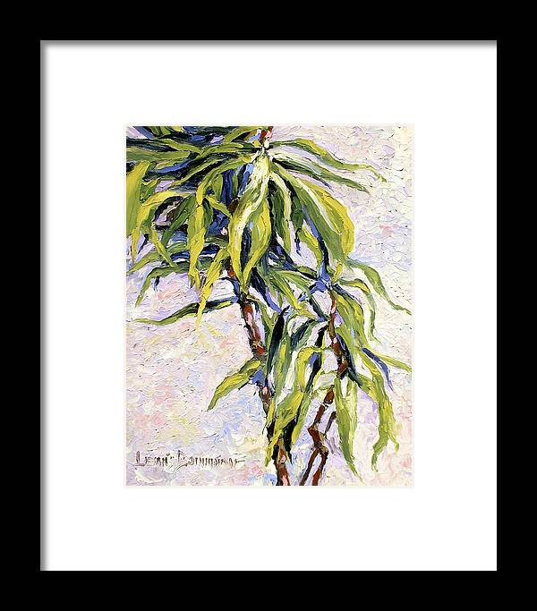 Yucca Framed Print featuring the painting House Plant by Lewis Bowman