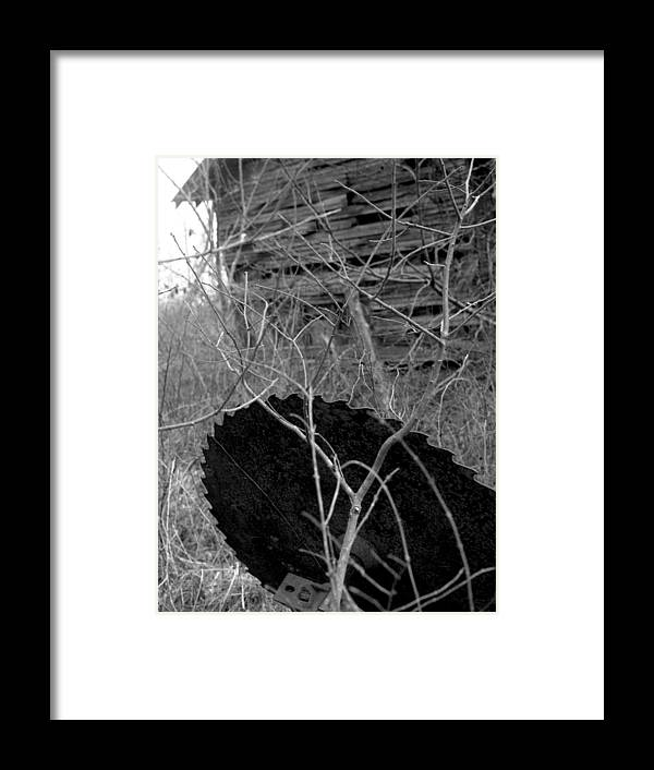 Ansel Adams Framed Print featuring the photograph House-saw-old by Curtis J Neeley Jr