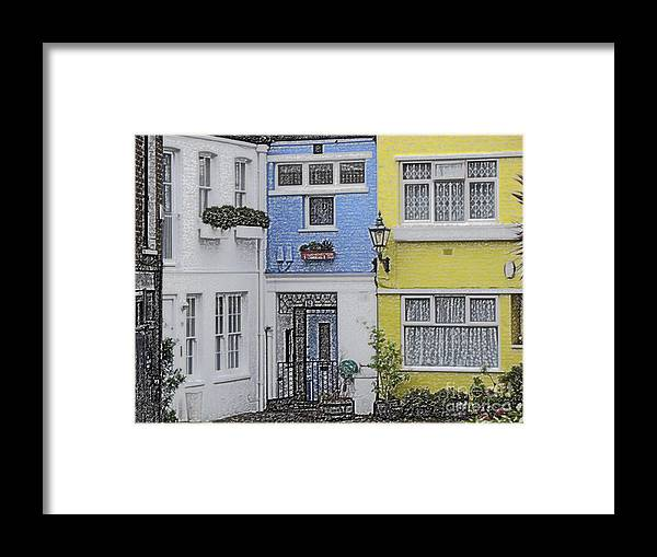 House Framed Print featuring the photograph Houses by Amanda Barcon