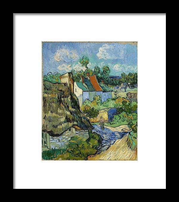 Vincent Van Gogh Framed Print featuring the painting Houses In Auvers by Van Gogh