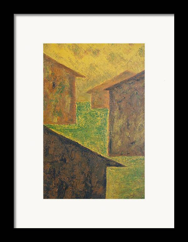 Framed Print featuring the print Houses Of 1954 by Biagio Civale