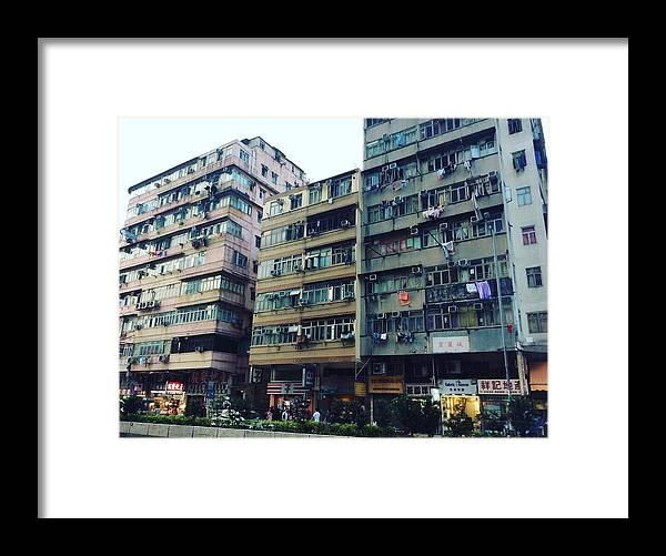 Hongkong Framed Print featuring the photograph Houses of Kowloon by Florian Wentsch
